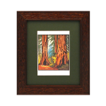 Mission Carved Wood Picture Frame