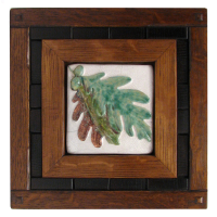 Signature Tile Wood Frame with Oak Leaf Tile
