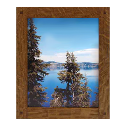 Narrow Lap Joined Wood Picture Frame