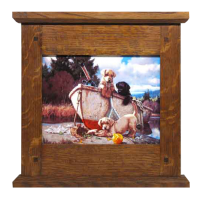 Mission Mantle Tile Wood Frame