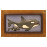 Wood Frame with Orca Tile