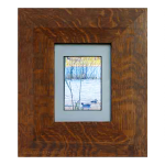 Wide Mission Flat Mitered Wood Picture Frame