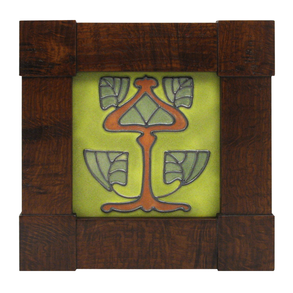 Mission Corner Block Wood Frame with Tile