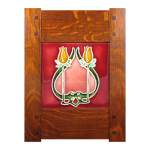 Wood Frame with Flowers Tile