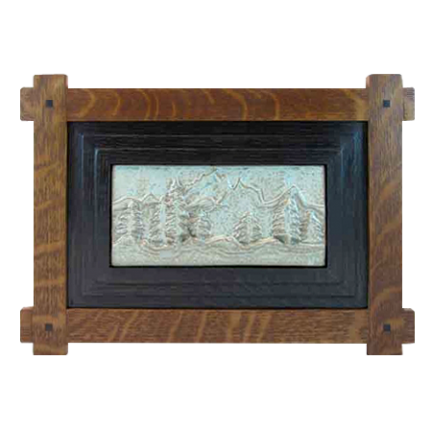 Wood Frame with Trees Tile