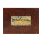 Wood Frame with Trout Tile