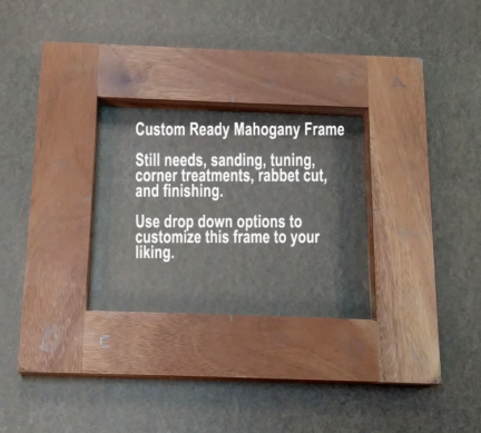 8x10 Mahogany Picture Frame